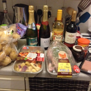 Ingredients for a roast dinner and a starter
